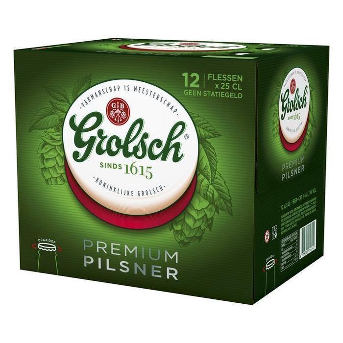 Grolsch Premium pilsner (12 × 250ml)