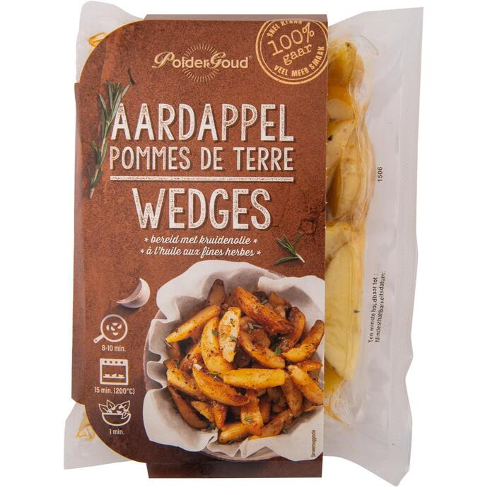 Aardappel wedges met schil in kruidenolie - 450gr (450g)
