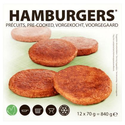 Golden Hamburgers 12 x 70 g (Stuk, 12 × 70g)