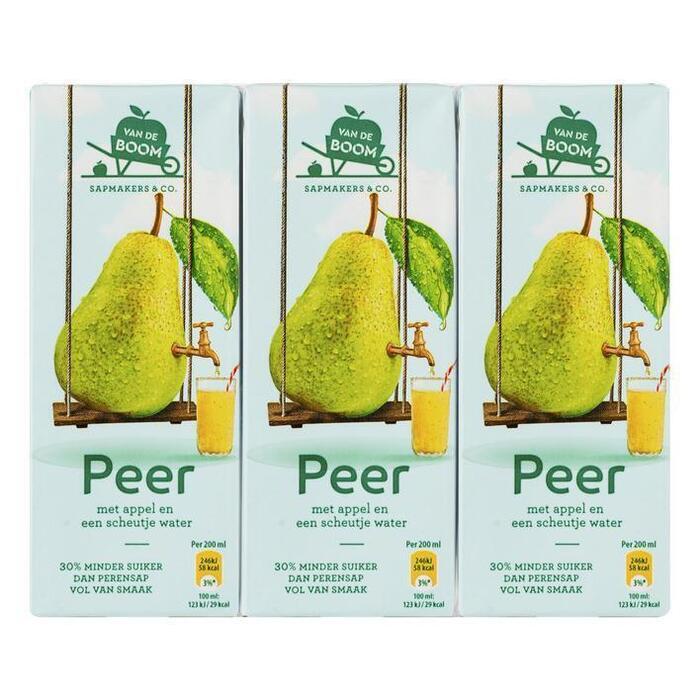 Van de Boom Peer met scheutje water 30% min suiker (6 × 200ml)