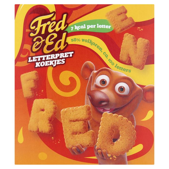 Fred & Ed Letterpret Koekjes 160g (160g)