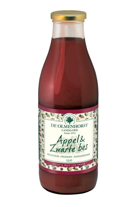 Appel & Zwarte bes (glas, 1L)