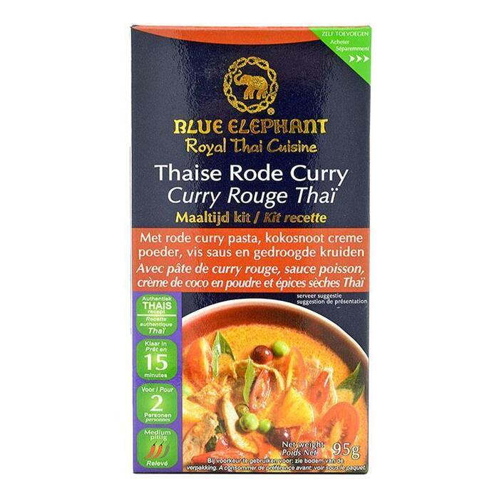 Blue Elephant Thaise rode curry maaltijd kit (95g)