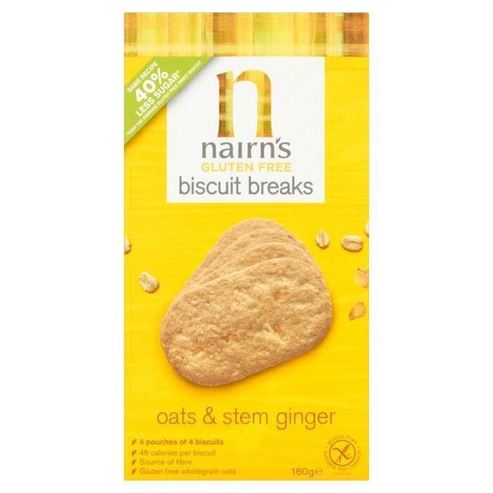 Nairn's Biscuit breaks oats ginger glutenvrij (16 × 160g)