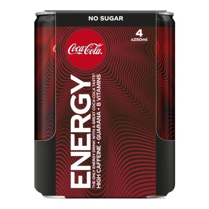 Coca-Cola Energy no sugar 4-pack (4 × 1L)