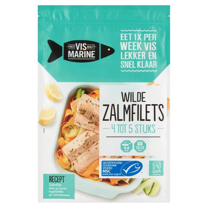 Vis Marine Wilde Zalmfilets 540 g (540g)