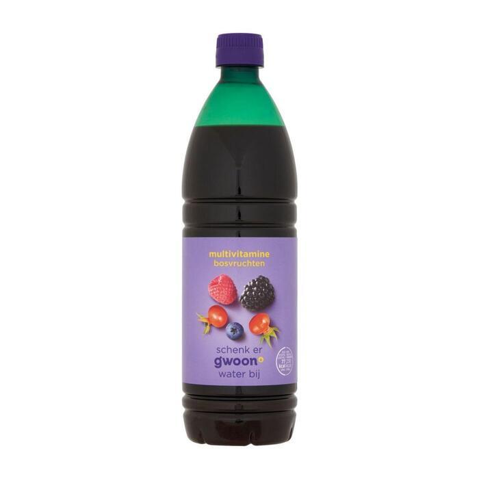 g'woon Siroop multi bosvruchten (0.75L)