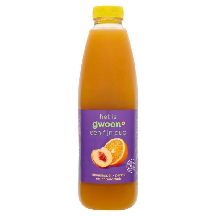 g'woon Vruchtendrank sinaasappel - perzik (1L)