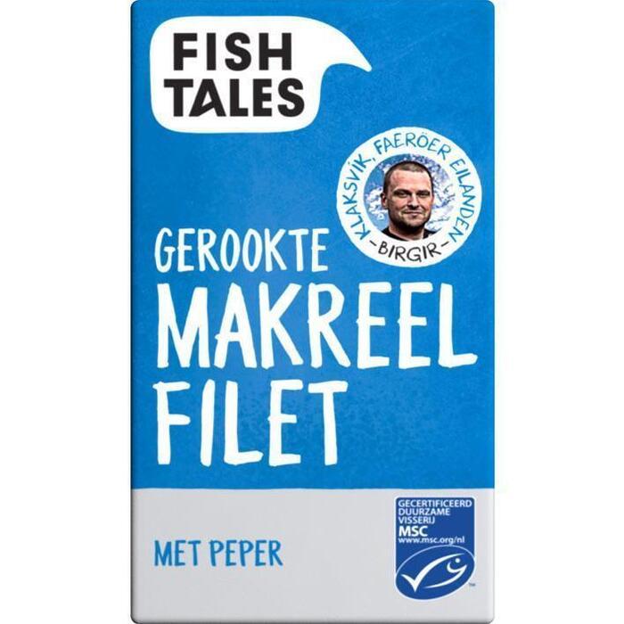 Fish Tales Gerookte makreelfilet met peper msc (110g)