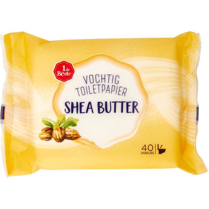 Vochtig toiletpapier shea butter 40 stuks