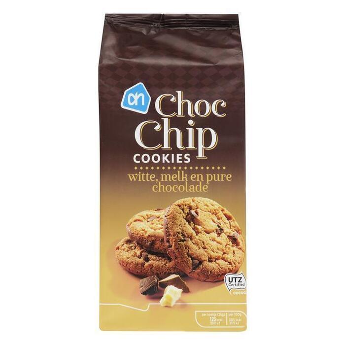 AH Choc chip cookies wit-melk-puur (200g)