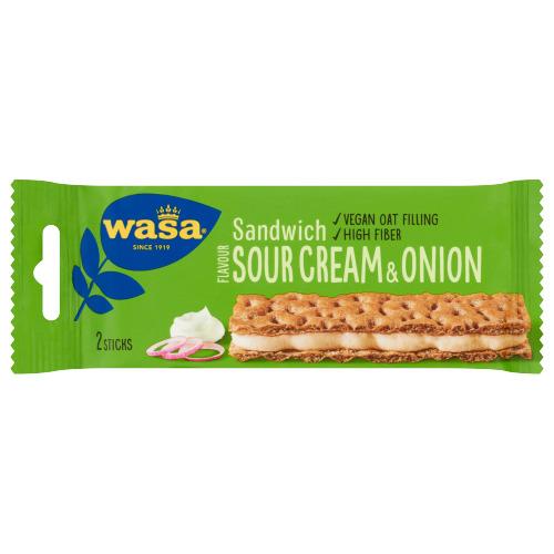 Wasa Sandwich Flavour Sour Cream & Onion 3 Stuks 99 g (3 × 99g)