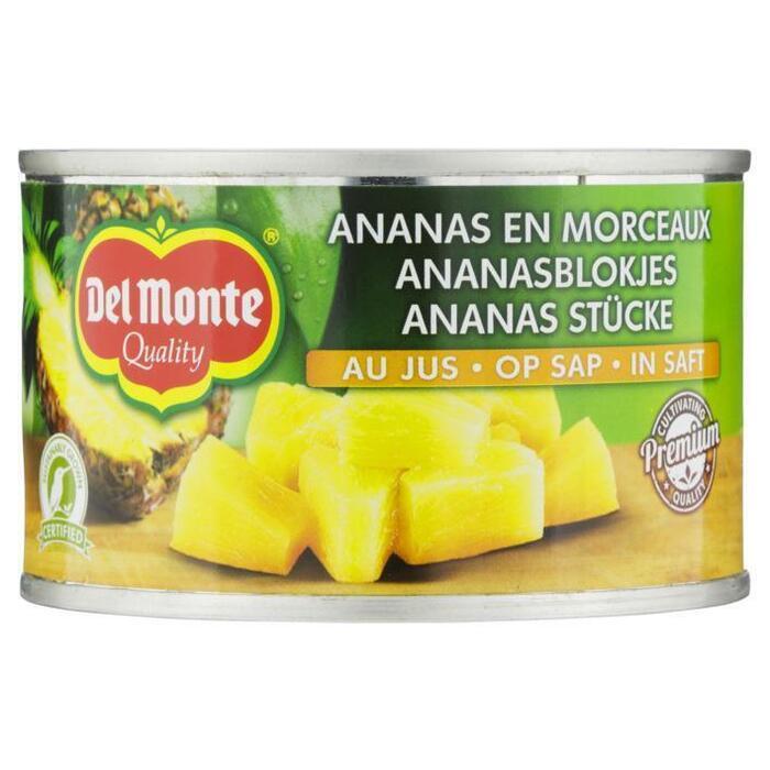 Ananas stukjes Op Sap (blik, 227g)