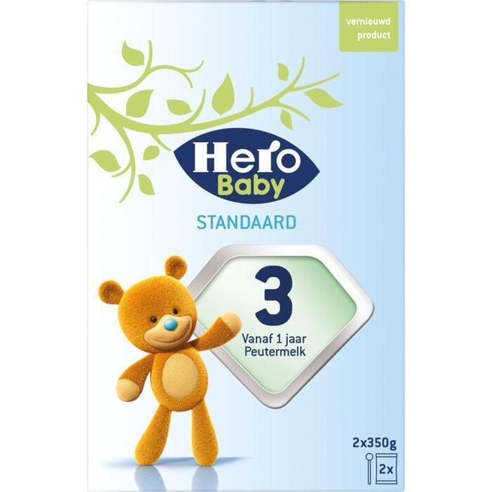 HERO BABY  Zuigelingenvoeding Standaard 3 2x350g Doosje (700g)