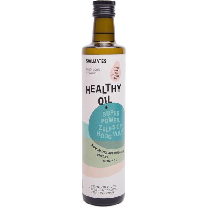 Healthy oil avocado olie (glazen fles, 0.5L)