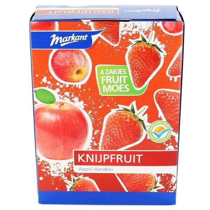 Markant Knijpfruit Appel-Aardbei 4 X 100 Gr. (400g)