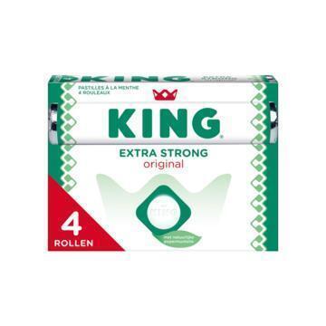 King Pepermunt Extra Strong Original 4 x 44g (4 × 44g)
