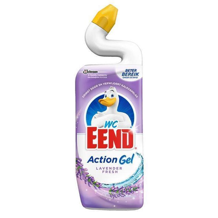 Toiletreiniger action gel lavender (Stuk, 0.75L)