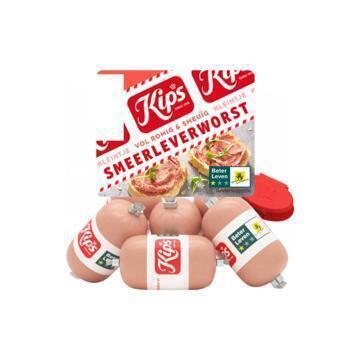 Kips Kleintje smeerleverworst (plastic zak, 120g)