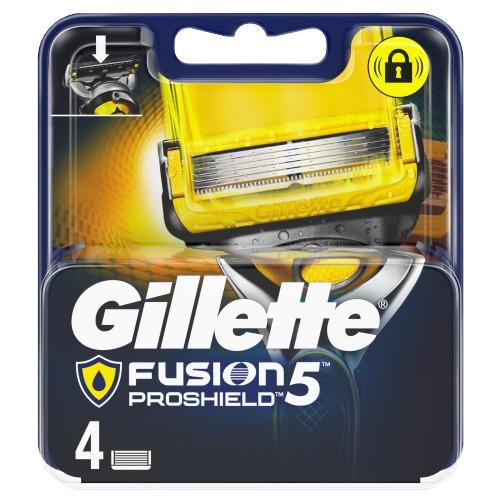 Gillette Fusion5 ProShield Scheermesjes, 4 Navulmesjes