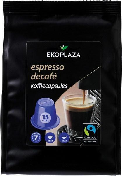 Espresso decafé koffiecapsules (zak, 15 st.)