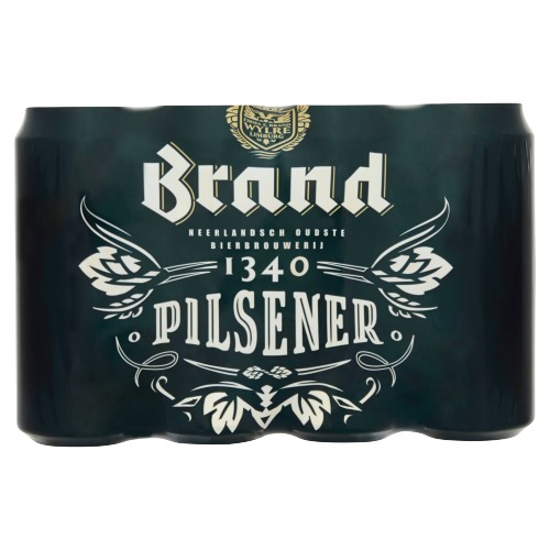 Brand Bier Blik 12 x 50 cl (rol, 600 × 0.5L)