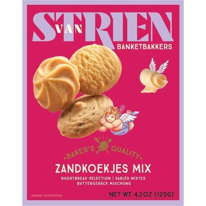 Handmade by van Strien Roomboter Zandkoekjes Assorti 120g (120g)