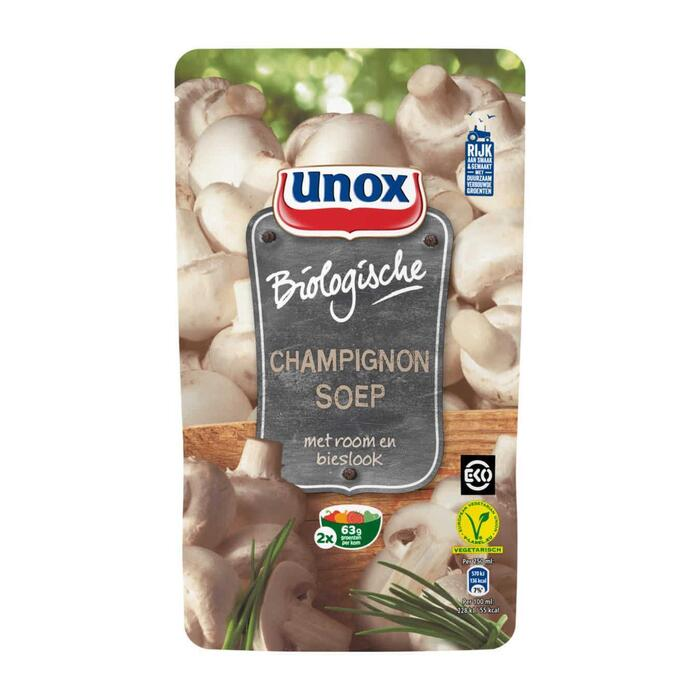 Unox Soep Biologische Champignonsoep 570 ml (0.57L)