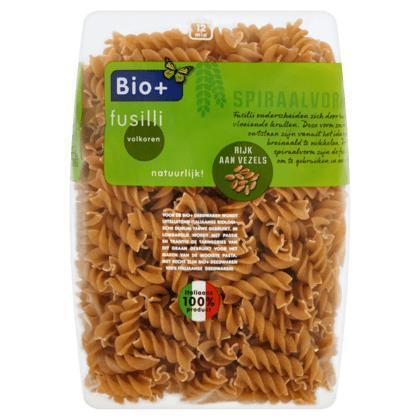 Bio+ Fusilli volkoren 500g zak (500g)