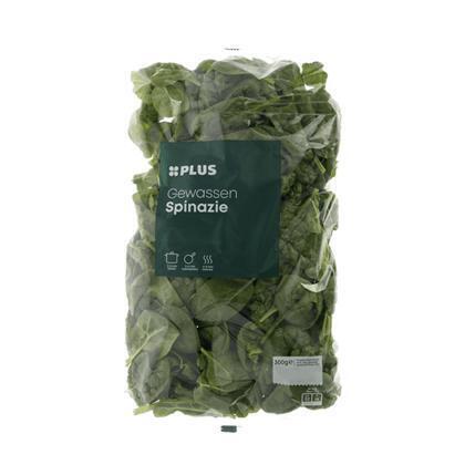 Gewassen spinazie (zak, 300g)