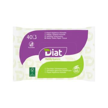 Diat Family Hygiene Vochtig Toiletpapier Aloe Vera 40 Stuks