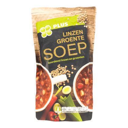 Soep in zak linzensoep (0.57L)