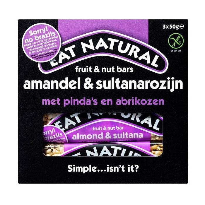 Eat Natural Brazils & sultanas (doos, 3 × 50g)