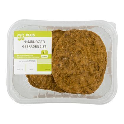 Hamburger gebraden (3 stuks) (3 × 90g)