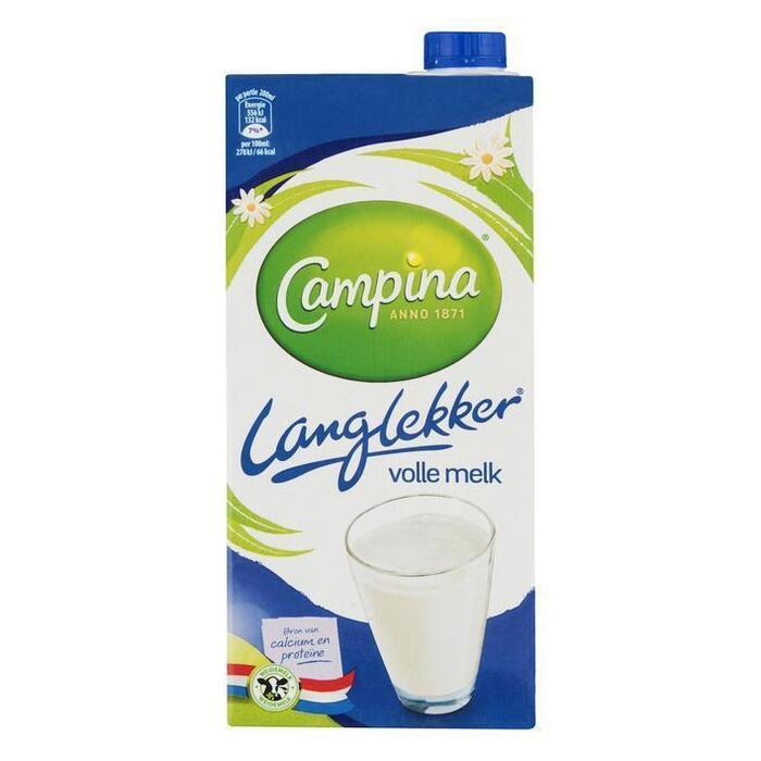 Campina Langlekker volle melk (1L)