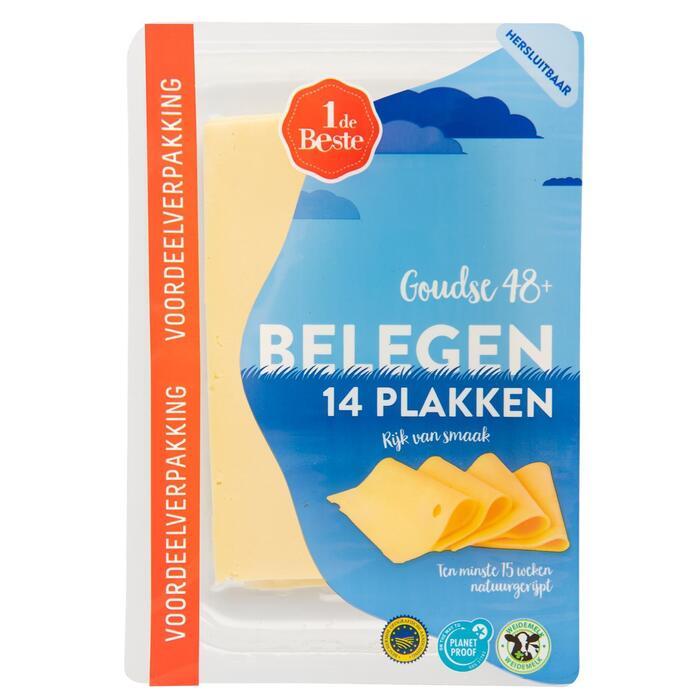 Belegen kaas 48+ voordeelverpakking (400g)