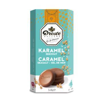 Droste Pastilles Karamel Zeezout 2 x 80 g (2 × 80g)