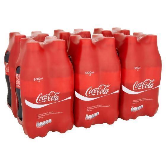 Coca-Cola regular fles 24 x 50 cl. (4 × 0.5L)