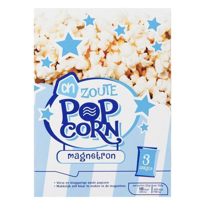 AH Microwave popcorn zout (3 × 270g)
