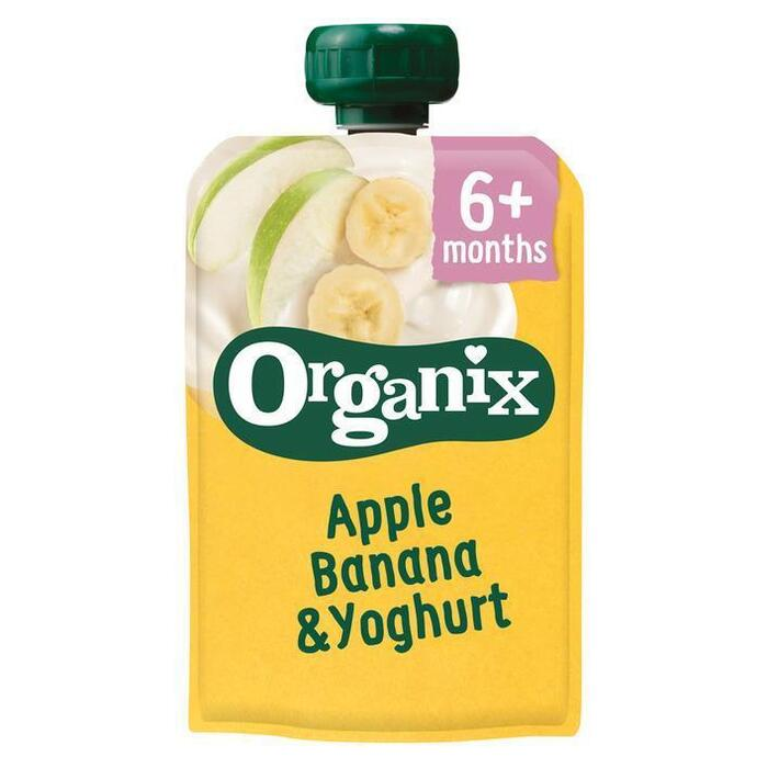 ORGANIX  Babyvoeding Apple, Banana, Yoghurt Biologisch 100g Knijpzakje (100g)