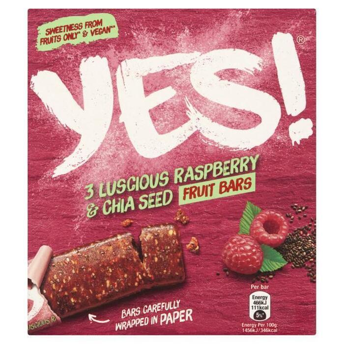 Yes Raspberry & chia seeds (3 × 35g)
