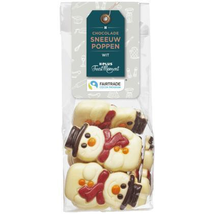 PLUS Feestmoment Chocolade Sneeuwpop Wit (FCTP) (150g)