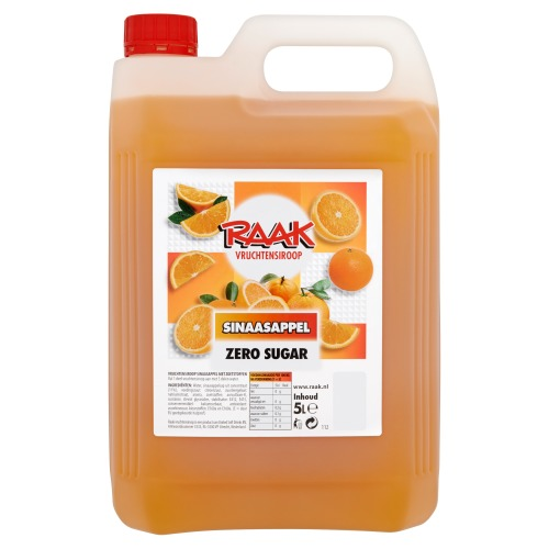 Raak Vruchtensiroop Sinaasappel Zero Sugar 5 L (5L)