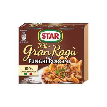 Star Gran Ragù con Funghi Porcini 2 x 180 g (2 × 180g)