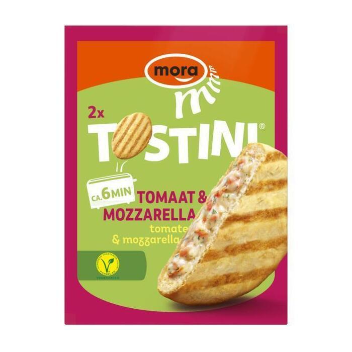 Mora Tostini mozzarella-tomaat (2 × 200g)