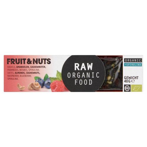 Fruit&Notenreep met spirulina (Stuk, 40g)