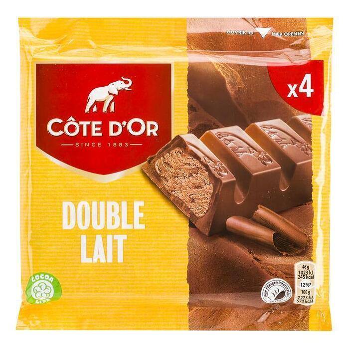 Cöte d'Or Reep double lait (3 × 46g)