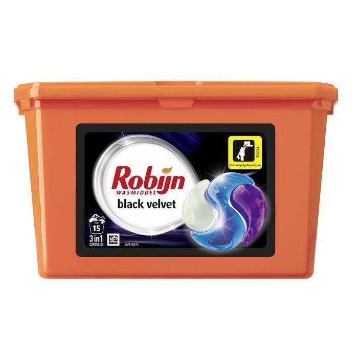 Robijn 3-in-1 capsules black velvet (15 × 405g)