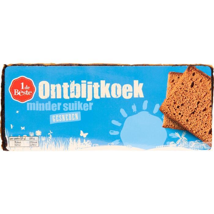 1deBeste ontbijtkoek Minder Suiker gesneden 350 Gram (350g)