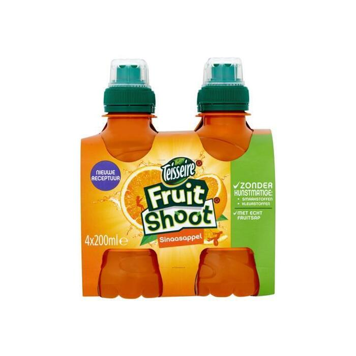 Fruit Shoot Sinaasappel (petfles, 4 × 200ml)